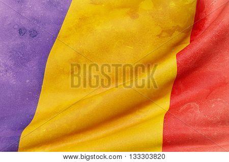 Republic Of Chad Flag Waving