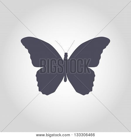 Black Butterfly Icon Silhouette Vector Illustration EPS10