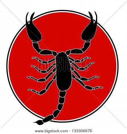 Black Scorpion Silhouette Icon Vector Illustration EPS10