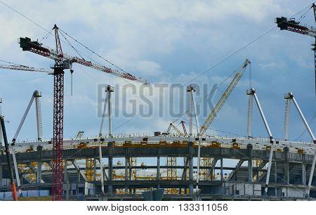 Rostov-Don, RUSSIA - JUNE 07 2016 Building stadium