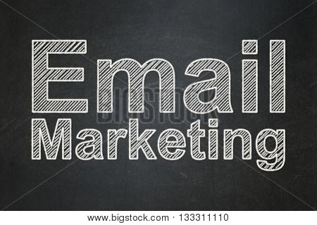 Marketing concept: text Email Marketing on Black chalkboard background