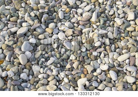 Rocks on a beach, full of warmth from the sun's rays