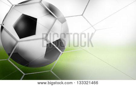 Goal - Football Background Ball 3D Design