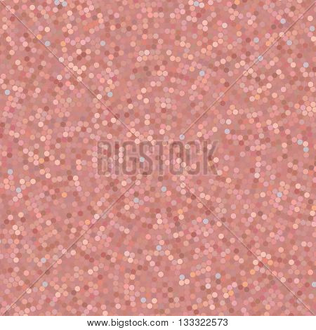 Simple Confetti Background, Vector Illustration. Pattern With Mixed Small Spots. Pink Color.