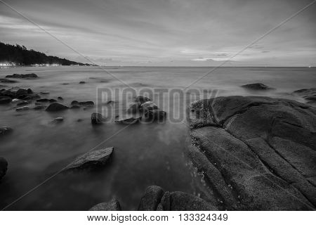 Beach sunset seascape photography  in Thailand .