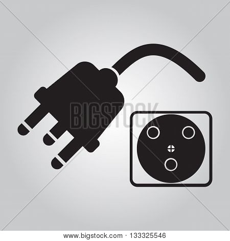 Plug icon socket icon sign, electricity sign