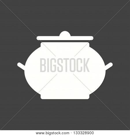 Bowl, lid, food icon vector image. Can also be used for kitchen. Suitable for use on web apps, mobile apps and print media.