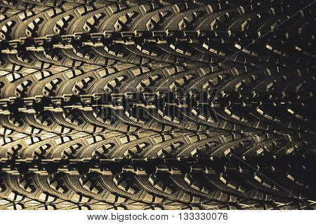 abstract of rubber wheel texture for background used
