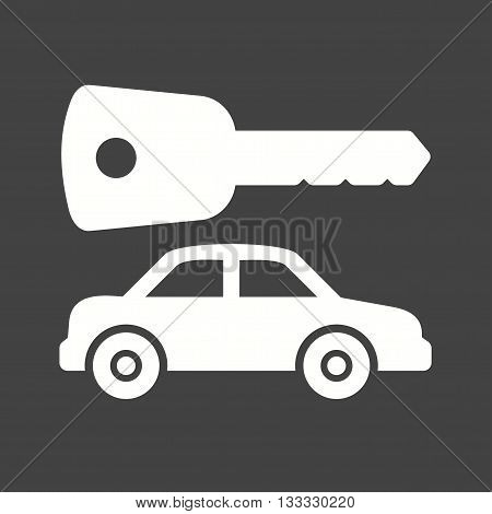 Car, keys, alarm icon vector image. Can also be used for car servicing. Suitable for use on web apps, mobile apps and print media.