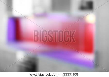Blurred kitchen interior