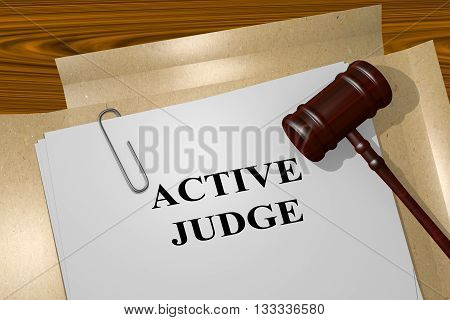 Active Judge Legal Concept