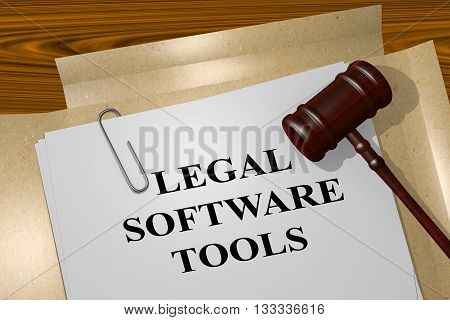 Legal Software Tools Legal Concept