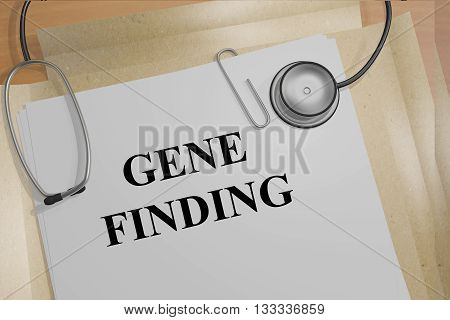 Gene Finding Medical Research Concept