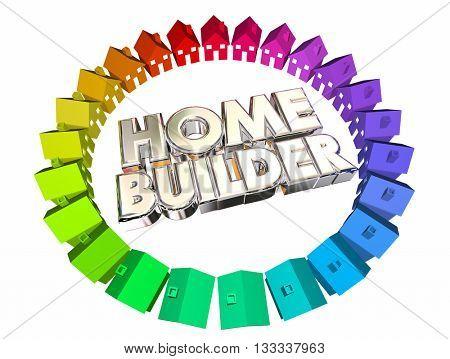 Home Builder Construction Developer Contractor 3d Illustration