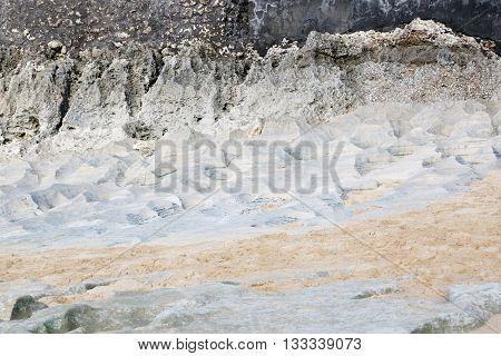 Image of stone beach - interesting shaped stone background