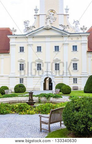 benedictine monastery with garden in Altenburg, Lower Austria, Austria