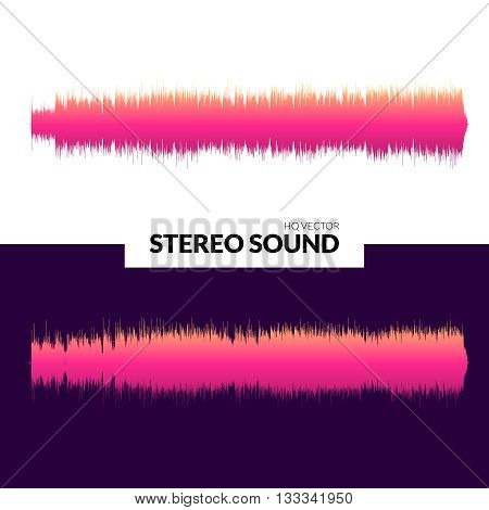 HQ Vector sound waves. Music waveform pink background. You can use in club, radio, pub, DJ show, party, concerts, recitals or the audio technology advertising background