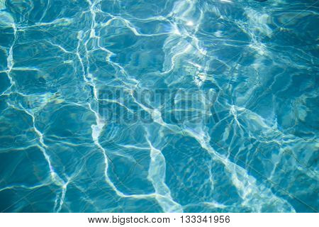 Water reflection on pool floor background abstract light and shadow texture