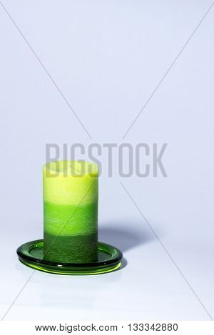 Decorative scented candle on a product photo shoot