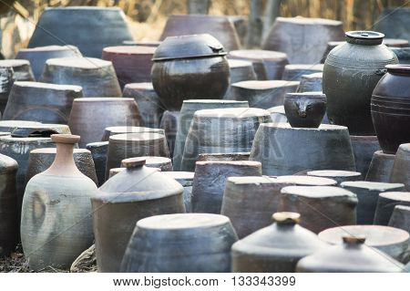 Korean traditional sauce, and storage jars bottle