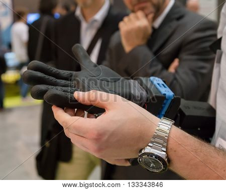 Artificial Hand At Technology Hub In Milan, Italy