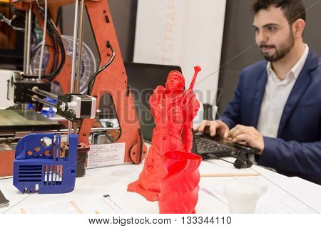 3D Printed Object At Technology Hub In Milan, Italy