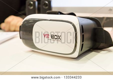 Virtual Reality Headset At Technology Hub In Milan, Italy