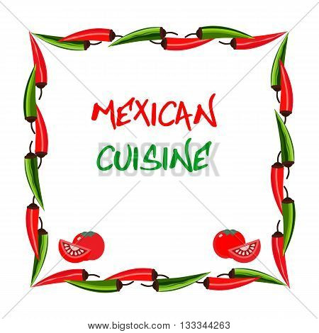 Mexican food style. Mexican cuisine Concept. Traditional menu. Fiesta meal. Mexico restaurant or cafe kitchen. Dish menu. Vector Illustration