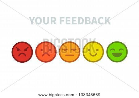 Feedback emoji set. Vector feedback concept illustration.