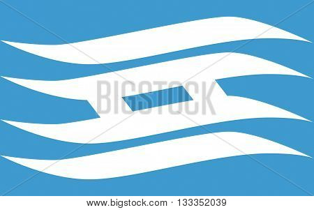Flag of Hyogo Prefecture is a prefecture of Japan located in the Kansai region on Honshu island. The capital is Kobe. 3D rendering
