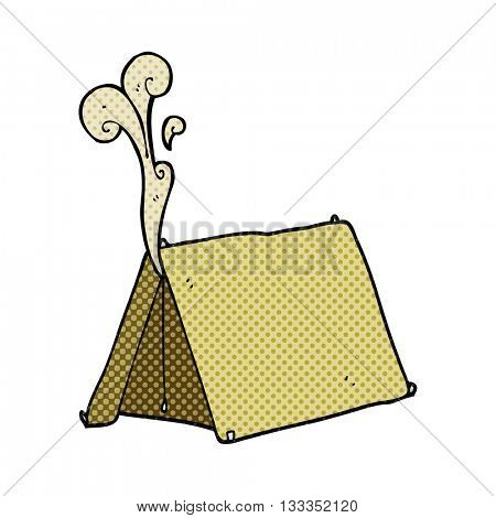 freehand drawn cartoon old smelly tent