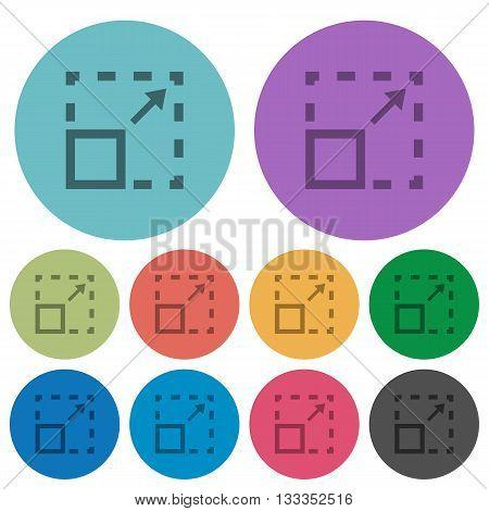 Color maximize element flat icon set on round background.
