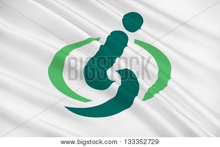 Flag of Saitama is the capital and the most populous city of Saitama Prefecture in Japan. 3D rendering