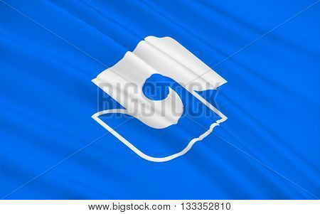 Flag of Shizuoka is the capital city of Shizuoka Prefecture Japan. 3D rendering