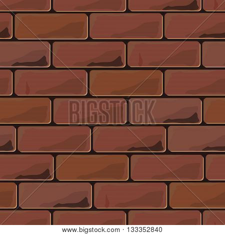 Background brick wall seamless. Vector illustration background - texture pattern for continuous replicate.
