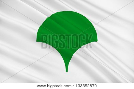 Flag of Tokyo is one of the 47 prefectures of Japan and is both the capital and largest city of Japan 3D rendering