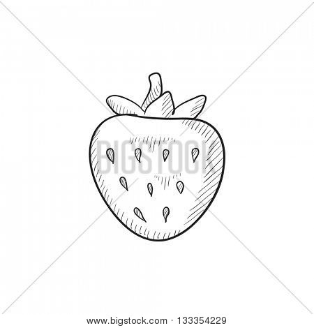 Strawberry vector sketch icon isolated on background. Hand drawn Strawberry icon. Strawberry sketch icon for infographic, website or app.
