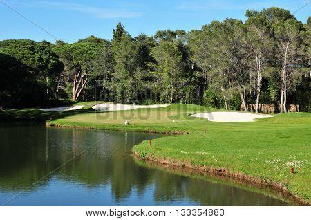 Saint Raphael; France - april 19 2016 : the golf