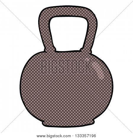 freehand drawn cartoon 40kg kettle bell weight