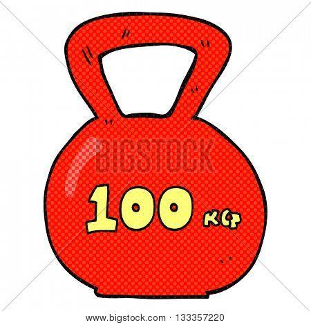 freehand drawn cartoon 10kg kettle bell weight