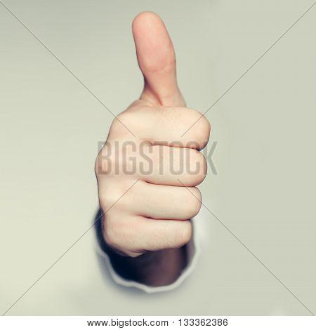 Thumb Up Closeup