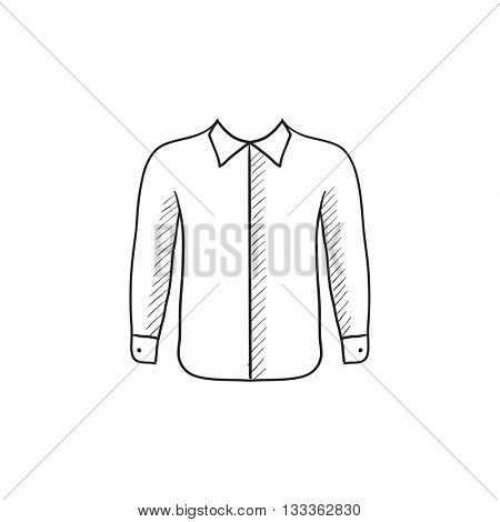 Shirt vector sketch icon isolated on background. Hand drawn Shirt icon. Shirt sketch icon for infographic, website or app.