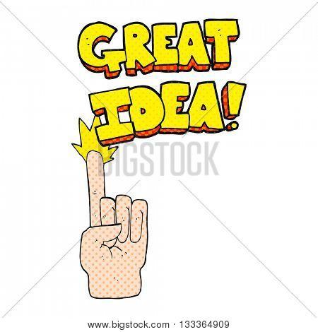 freehand drawn comic book style cartoon great idea symbol