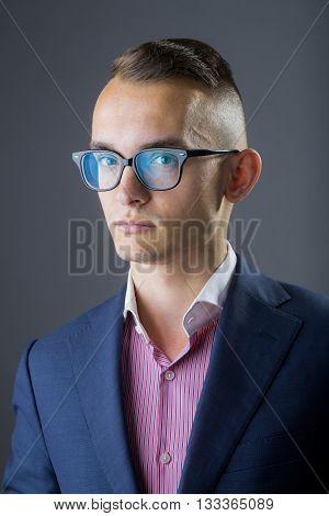 Elegant Young Businessman Posing