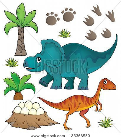 Dinosaur topic set 6 - eps10 vector illustration.