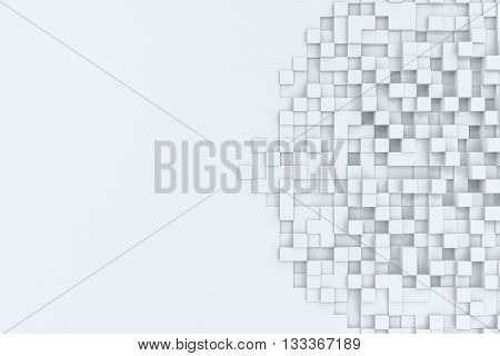 Rectangular cubes abstract bacgkround, 3d illustration high resolution