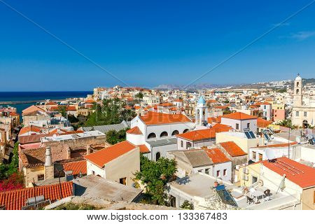 Chania. Aerial view from the hill Schiavo.