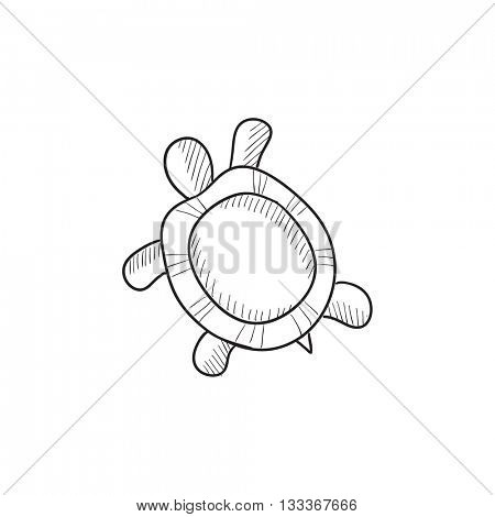 Turtle vector sketch icon isolated on background. Hand drawn Turtle icon. Turtle sketch icon for infographic, website or app.