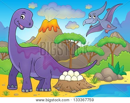 Image with dinosaur thematics 2 - eps10 vector illustration.