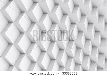 Abstract cubical background with depth of field effect, 3d illustration